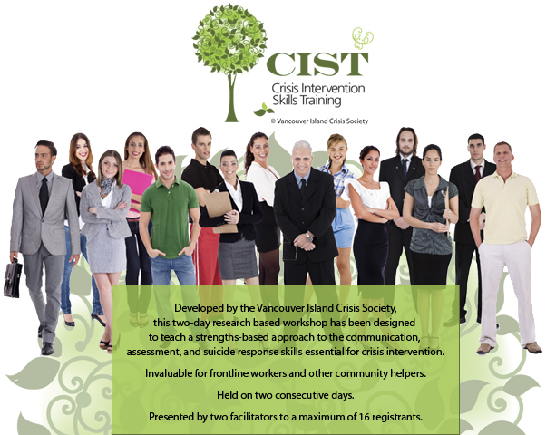 CIST - Crisis Intervention Skills Training - Developed by the Vancouver Island Crisis Society